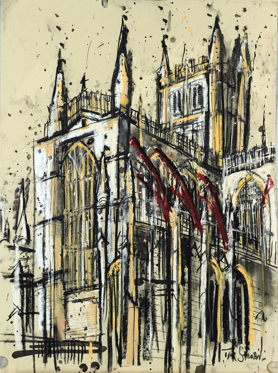 Bath Abbey II by tim steward -  sized 20x28 inches. Available from Whitewall Galleries